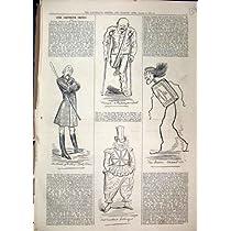 1879 の演劇的なスケッチの華美のサーカスの鉄の箱の道化師