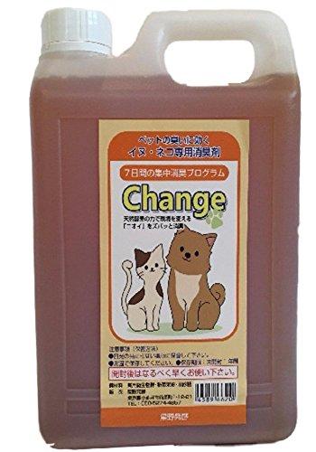 猫犬の消臭剤、ネコイヌ臭い消し Change 猫の粗相やスプ...