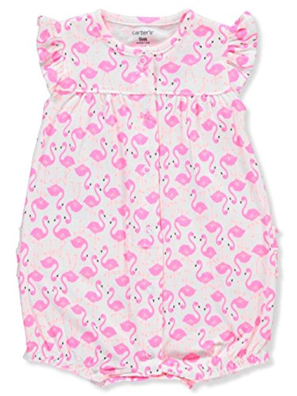 カーターズ(Carter's) 女の子用 ピンクフラミンゴ 半袖 前開きクリーパー 6months(61-67cm)