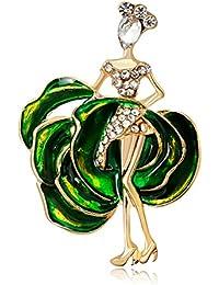 Vi.yoブローチ ブローチピン コサージュ ダンスガール 合金 ファッション 可愛いアクセサリー ギフト