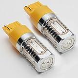 S CREATE(エスクリエイト) 超爆光LEDバルブ 7.5W シングル アンバー オレンジ T20 SMD 5面発光 2個