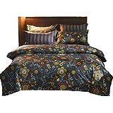 GOOFUN-D32K 3 Piece Quilt Cover Set, Super Soft Duvet Cover Bedding Set Includes 2 Pillowcases King Size