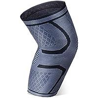 YOTECE 膝サポーター 痛み 薄型 スポーツ バレーボール 登山 おおきいサイズ あたため 保温 けが予防 ひざ 通気性 伸縮性 関節 靭帯 筋肉 固定 保護 左右兼用 男女兼用 1枚入り