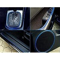 車用 カーデコレート カラーモール 外装 内装 ドレスアップ カット可能 カー用品 【ブルー】 ZS-CARDECO-BL