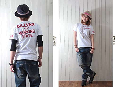(ビルバン)BILLVAN アメカジプリントTシャツ「WORKING」726A/ユニセックス M ホワイト