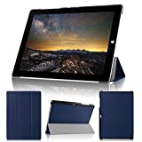 wisers Microsoft Surface 3 タブレット 専用 超薄型 スリム ケース カバー ダークブルー