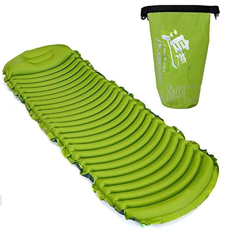 反論文句を言うスリッパRaiFu 寝袋 バックル キャンプ ハイキング ポータブル 高速 充填 マッサージ マット 内蔵枕と超軽量 インフレータブル