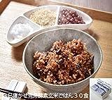 レンジ対応!3日寝かせ 発芽酵素玄米ごはん 30食 冷凍