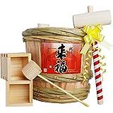 来福 ミニ樽酒セット 2升樽 (3.6L)祝い酒