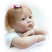 Realistic Lifelike Rebornベビー人形Girlsシリコンビニール22インチ55 cm Lovely Cute Baby Boy Girl Toy