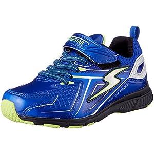 [スーパースター] 防水 防滑ソール 運動靴 通学履き バネ バネのチカラ パワーバネ 軽量 ゆったり SS J826 ブルー 200(20 cm) 2E