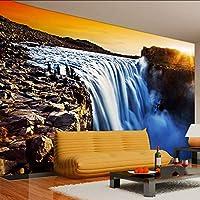 Lixiaoer カスタム壁画壁紙現代の3Dステレオ環境に優しい不織布夕日リビングルームのソファの背景写真の壁紙-400X280Cm