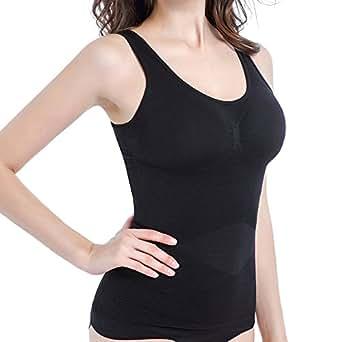 加圧インナー インナーウェア レディース 加圧シャツ 加圧ブラトップ ダイエットインナー 加圧tシャツ タンクトップ 脂肪燃焼 冬 春 M 黒