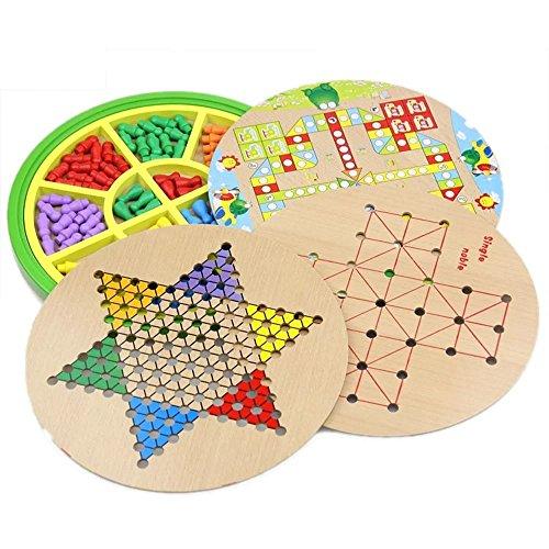 Kayiyasu カイヤス おもちゃ 五目並べ 連珠 知育玩具 ボードゲーム チェッカー 子供 ダイヤモンドゲーム 021-lzgy-058(直径28cm 約1200g )