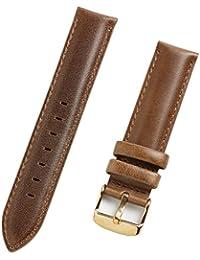 お持ちの時計をお洒落にカスタマイズ♪ ダニエル対応 高品質 替えベルト レザーベルト ブラウン ベルト幅20mm