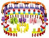 ドミノ 倒し 積み木 天然 木製 ブロック ピタゴラスイッチ 知育 玩具 おもちゃ カラフル 12色 240個