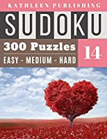 300 Sudoku Puzzles: Huge Sudoku Book 300 valentines day puzzle Games | 3 Diffilculty - 100 Easy 100 Medium 100 Hard For Beginner To Expert | My Valentines Edition | Red Heart Tree Design Perfect Gift for family adult, Senior, adult, mom, Grandpa (Giant sudoku book)