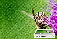 Sim、木製マテリアル、GoodのためのパズルジグソーパズルPlayer inボックスgift-wrap- Bee andホワイト花Pollination、29.5X 19.6インチ–1000ピースジグソーパズル