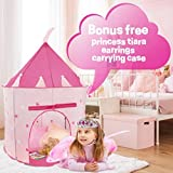 WeePlay 4 Piece Princess Castle Play Tent | BONUS! Includes Princess Tiara and Earrings | Conveniently folds into FREE Carrying Case | Indoor & Outdoor Use | Glow in the Dark Stars [並行輸入品]