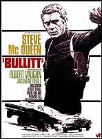 Bullitt Steve McQueen映画ポスターキャンバスキッチンマグネット冷蔵庫マグネット 2.5 x 3.5