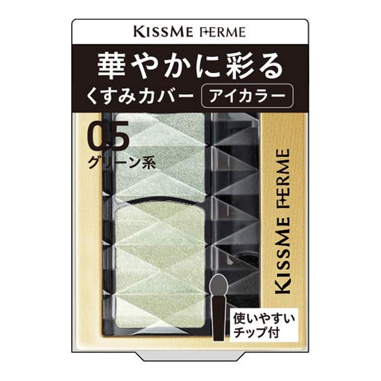 取り組むアクセスできない闘争キスミーフェルム 華やかに彩るアイカラー 05 グリーン系