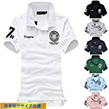 (SGL Collection) ポロシャツ メンズ 半袖 ワッペン 刺繍 デザイン スリムフィット 薄手 スキッパー 7色選択 S ~ XXXL 【日本向けサイズ仕様】