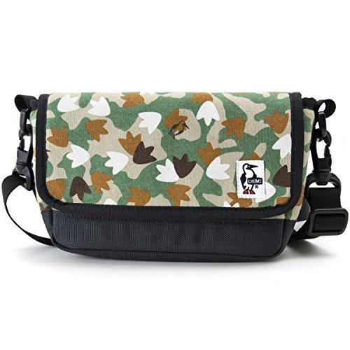 (チャムス) CHUMS スモールカメラショルダー スウェット & コーデュラナイロン 17Fフットカモ/ チャコール マイクロ一眼レフ カメラ デジカメ 用 バッグ