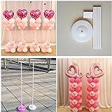 バルーンを取り付ける用の柱のベース 160 cm /スティック / プラスチックポール バルーンアーチ 結婚式の飾り イベントパーティー用品 ガーデンデコレーションに