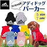 【adidog】【アディドッグ】犬用 パーカー 犬服 ドッグウェア  サイズ /S/M/L/XL/XXL 5COLORS M,ブラック