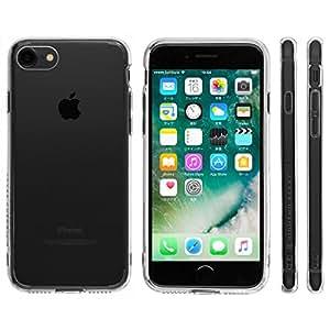 Highend berry iPhone7 ケース 耐衝撃 ハイブリッド ケース アイフォン7 カバー Unity 落下防止 用 ストラップ ホール 付き 保護キャップ 一体型 ストラップ 付き クリア