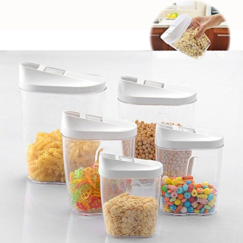 Itian 食品貯蔵タンク 保存容器 透明 密閉 プラスチック 食品貯蔵容器 乾物保存 ドライフルー...