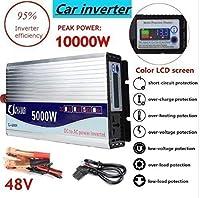 正弦波 電源電圧トランスインバー タコンバータ 12V 24V 48V 220V 5000W-10000W + 液晶ディスプレイ