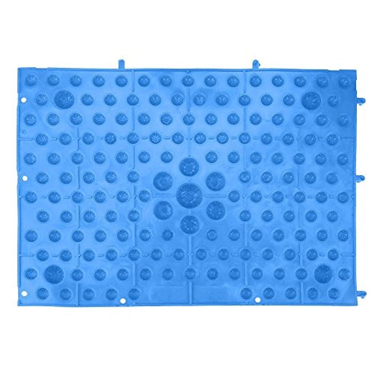 圧力受信機酸化物フットマッサージマット 足つぼマット 足踏み 足ツボ 指圧シート 足の圧力プレート ヘルスケアマッサージマット 血液循環を促進する 室内外 運動 余暇 全6色(ブルー)