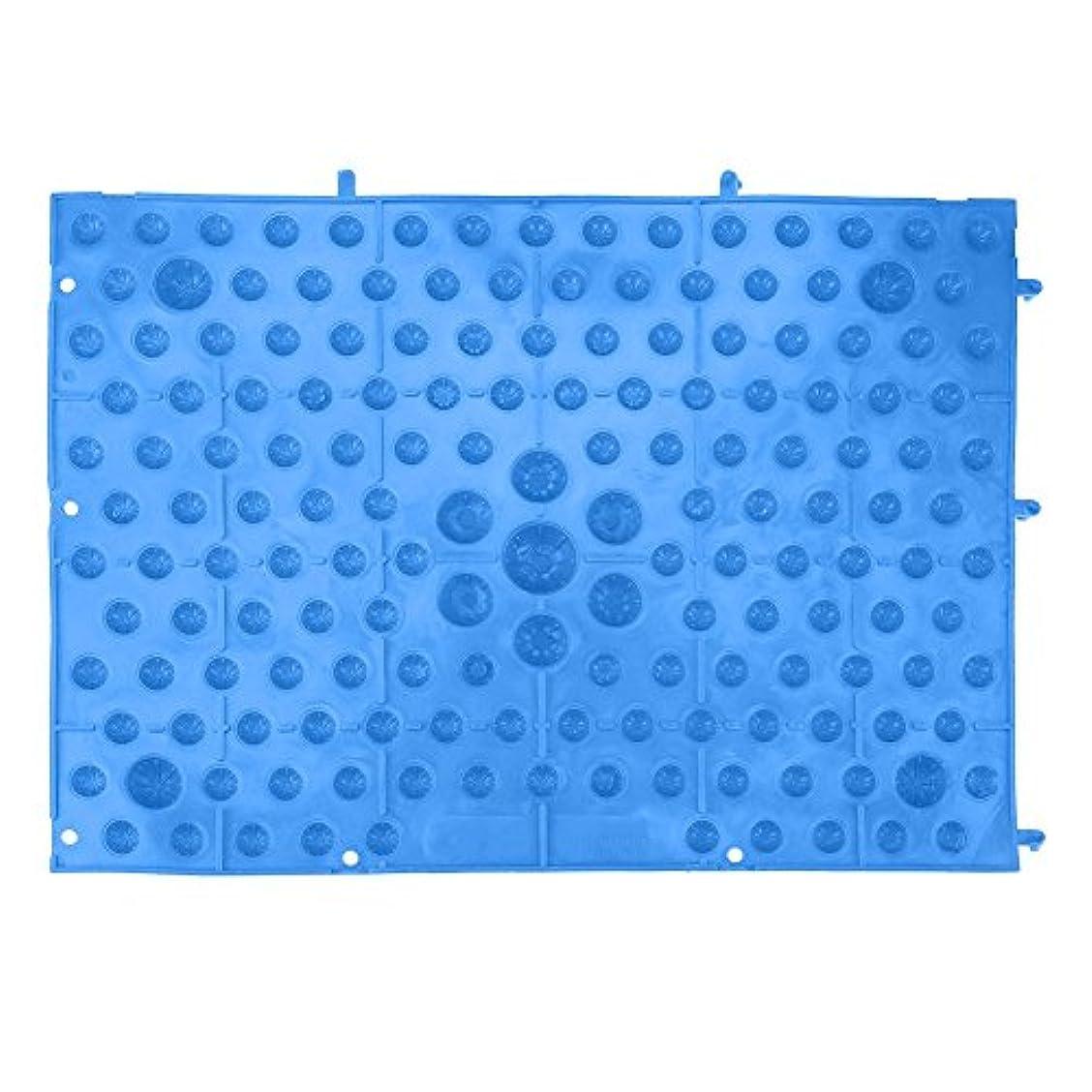 レンダーポップひそかにフットマッサージマット 足つぼマット 足踏み 足ツボ 指圧シート 足の圧力プレート ヘルスケアマッサージマット 血液循環を促進する 室内外 運動 余暇 全6色(ブルー)
