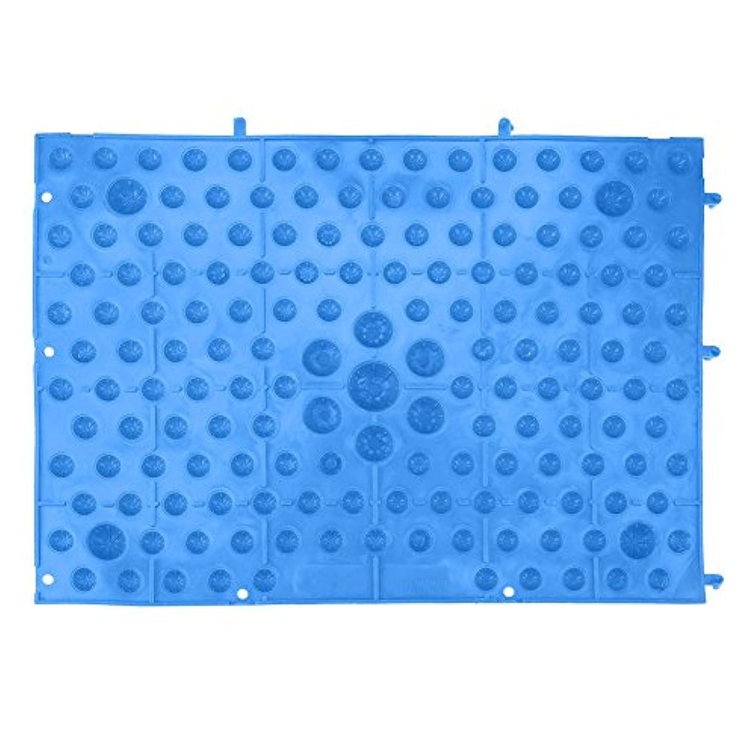 きらめくコスチュームトラフィックフットマッサージマット 足つぼマット 足踏み 足ツボ 指圧シート 足の圧力プレート ヘルスケアマッサージマット 血液循環を促進する 室内外 運動 余暇 全6色(ブルー)