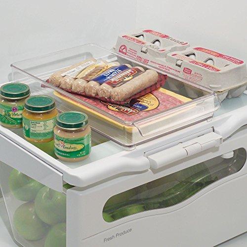 冷蔵庫 食品 収納 ラック パントリー キャビネット 20.5cm x 37cm x 5cm トレイ クリア 70230EJ