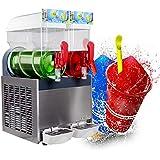 Kolice 2X15L Tanks Commercial ice Slush Machine Margarita Frozen Drink Cooling Beverage Making Machine ice Slush Maker Frozen