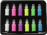 蓄光パーツ ミニボトル入(6色×各2本)12本セット ケース入