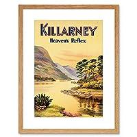Travel Killarney Ireland Heavens Reflex River Scenic Beauty Art Framed Wall Art Print 旅行アイルランド川風景壁