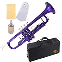 Glory Brass Bb Trumpet with Pro Case +Care Kit Purple More COLORS Available ! CLICK on LISTING to SEE All Colors [並行輸入品]