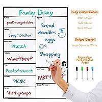 monsiter磁気ホワイトボード冷蔵庫のメモ型のステッカーDry Erase Board Weekly PlanシートChoreリスト