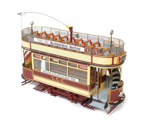 木製模型キット ロンドン(路面電車)和訳付き