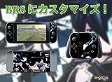 【E-game】 高品質 Nintendo Switch スキンシール 保護カバー (本体 ドック Joy-Con グリップ 4点セット) 液晶保護フィルム & オリジナルクロス付き 「ブラックロックシューター」