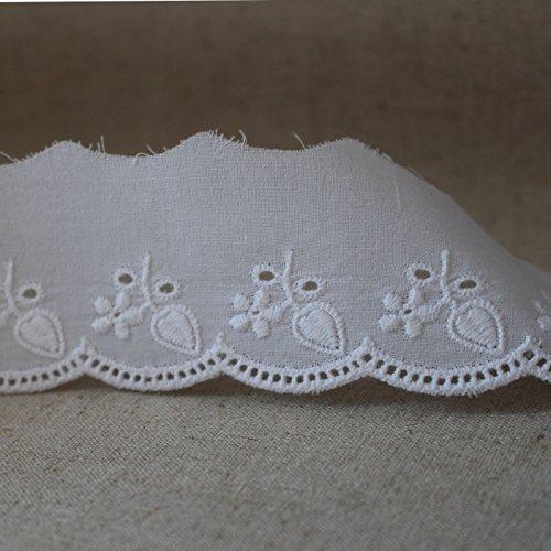 14ヤード刺繍コットンアイレットレーストリム 5cm YH731