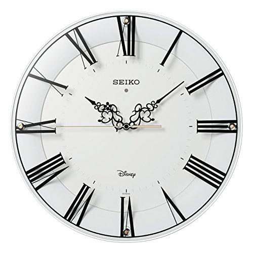 SEIKO CLOCK(セイコークロック) ディスニー ミッキーマウス ミニーマウス 大人ディズニー 電波掛時計(白塗装光沢仕上げ) FS506W