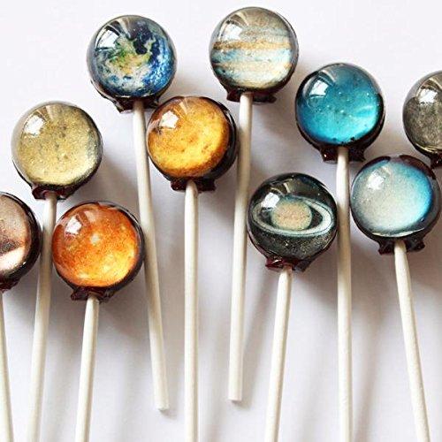 【 惑星キャンディー 】 Planet Lollipop (10個 パック) [並行輸入品]