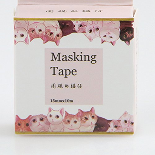 [koneko]マスキングテープ 見物人猫10m*15mm