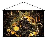 NYANCOS タペストリー 初音ミクmiku ポスター 掛ける絵 巻物 軸物 アニメ おしゃれ 萌え (90cmX60cm)