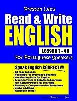 Preston Lee's Read & Write English Lesson 1 - 40 For Portuguese Speakers