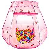 LeHom ボールプール ベビーサークル 折り畳み式 コンパクト 収納バッグ付き 屋内遊具 室内室外 ? (ピンク)